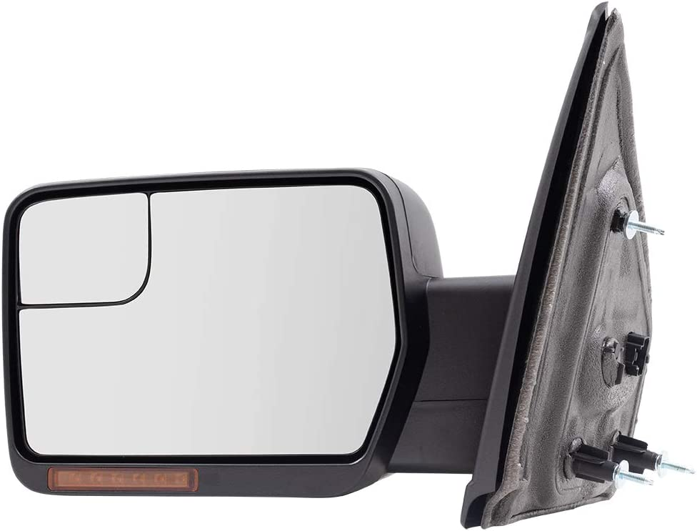 Brock Drivers Power Side View Mirror Heated Signal Reflector Spotter Glass fits 09-14 Ford F-150 Pickup Truck replaces BL3Z17683CA FO1320407