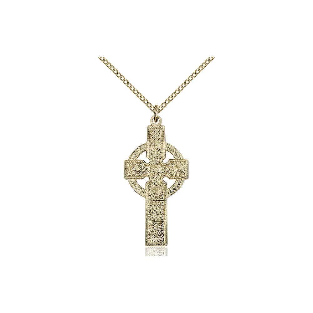 DiamondJewelryNY 14kt Gold Filled Kilklispeen Cross Pendant