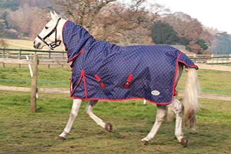 Rhinegold Fixed Neck Summer Horse Turnout Rug STAR 5ft6in