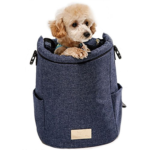 Romance Dog, Premium Unique Character Painting Pet Carrier Backpack (Navy, M (11.8x13.4x5.5)) by Romance Dog