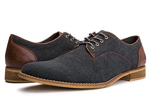 GW Mens 16561 Oxford Shoes 9M,Black Grey16561