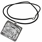 3dRose Danita Delimont - Montana - Rain covered manhole cover in Missoula, Montana - Necklace With Rectangle Pendant (ncl_231118_1)