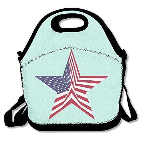 MAGGIE SALAS Eagle USA Flag Comfortable Lunch Bag Travelling Picnic Storage Bags Backpack - Foothills The Mall