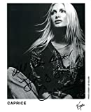 Caprice Bourret AUTHENTIC autograph, signed photo