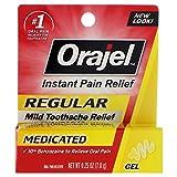 Orajel Regular Strength Toothache Pain Relief Gel, 0.25 oz
