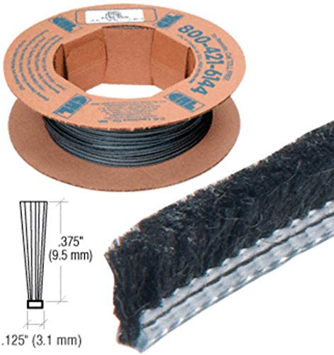 .312 Adjustable Astragal Replacement Pile Weatherstrip - 100 Roll