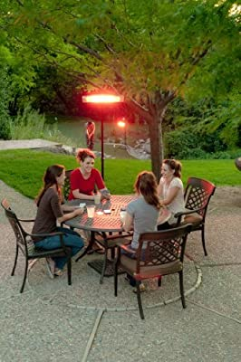 e-joy combo1500ww Remote control LED Carbon Infrared Indoor/Outdoor Patio Heater, 1500W 3 Level Heat Adjust Indoor Space Heater