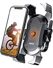Elvana ONE-Click Bike Phone Mount, 15s Quickly Install, 1 Second Automatically Lock & Release, Bike Accessories for Motorcycle, Widely Compatible for Smart Phone