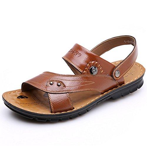 Pantoletten Sandalen 38 Flats Clogs Slipper Sommer Zehentrenner Gr Zehentrenner Bio Khaki 44 Schuhe LOBTY Herren Xwq411