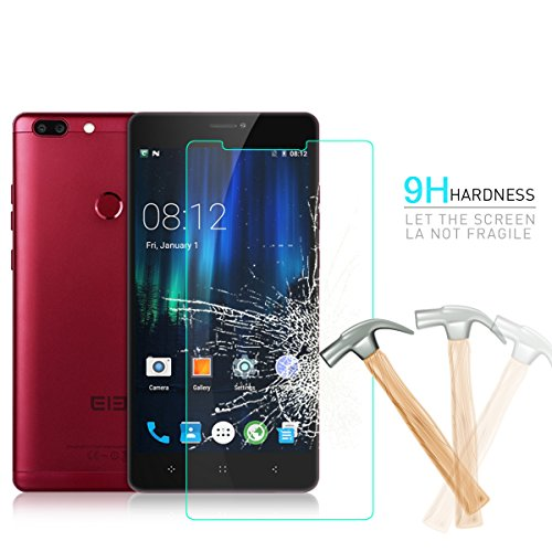 Elephone Max Tempered Glass, HYYT Tempered Glass Screen Protector Premium Front Film Scratch Proof,Bubble Free,9H Hardness with Package for Elephone Max - C1 Glass
