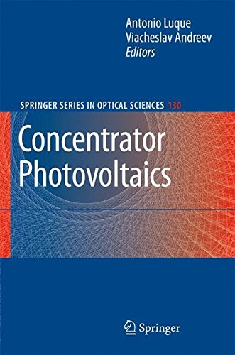 Concentrator Photovoltaics (Springer Series in Optical - Optical Lopez