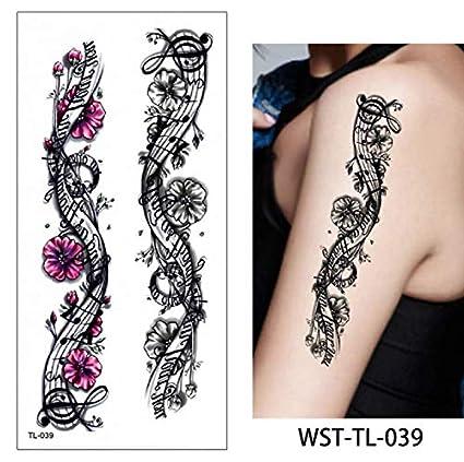 yyyDL etiqueta engomada del tatuaje temporal del arte 50D Joyería ...
