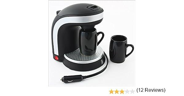 Cafetera de viaje para coche, dos tazas - 12 voltios: Amazon.es ...