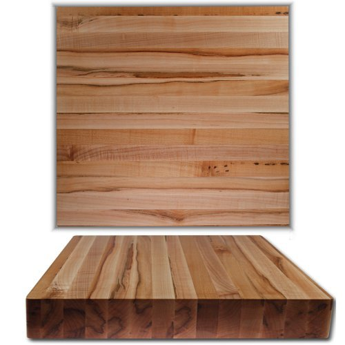 Kobi Blocks Maple Edge Grain Butcher Block Wood Cutting Board 18''x24''x3''