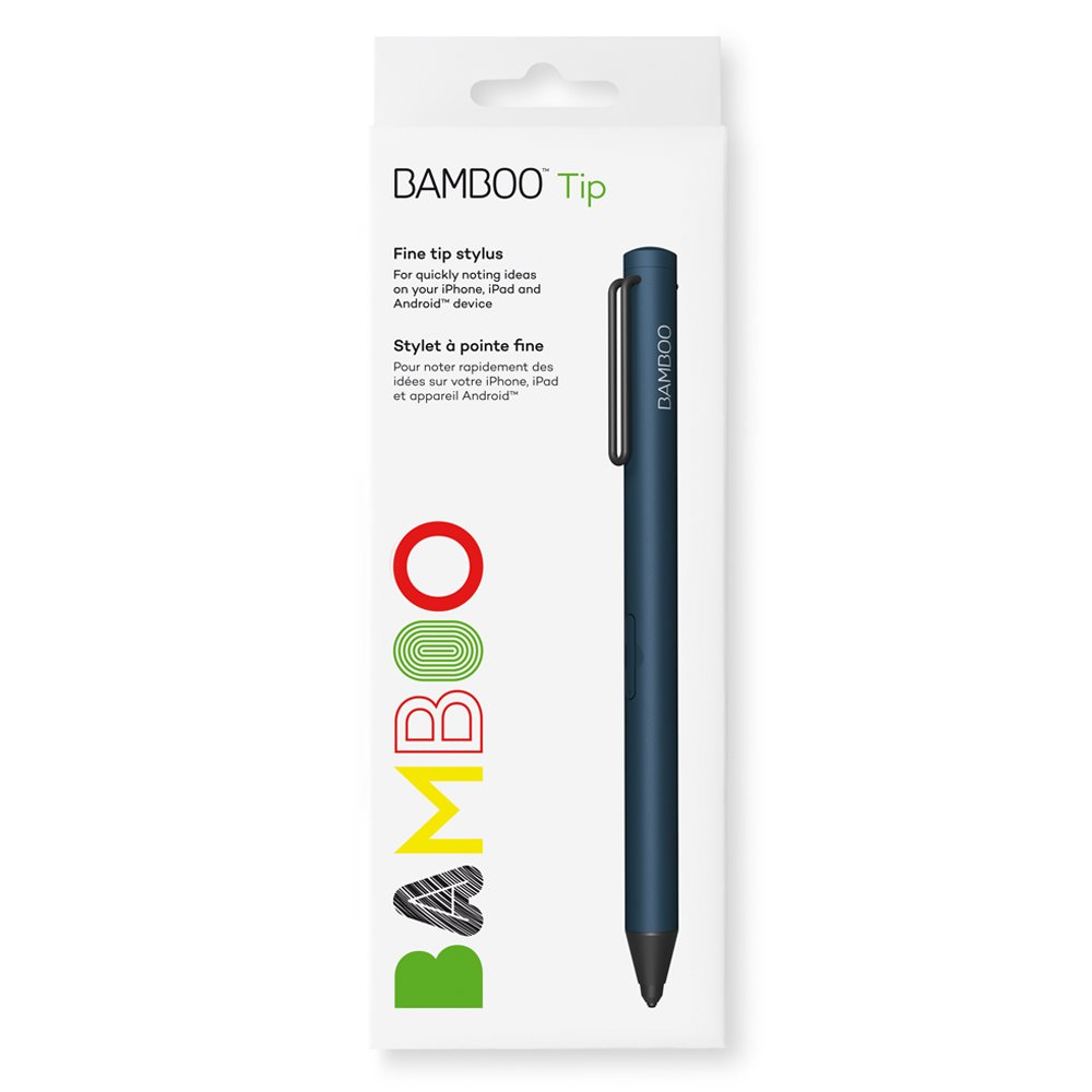 Wacom Bamboo Fine-Tip Stylus, Blue (CS710B) Inc