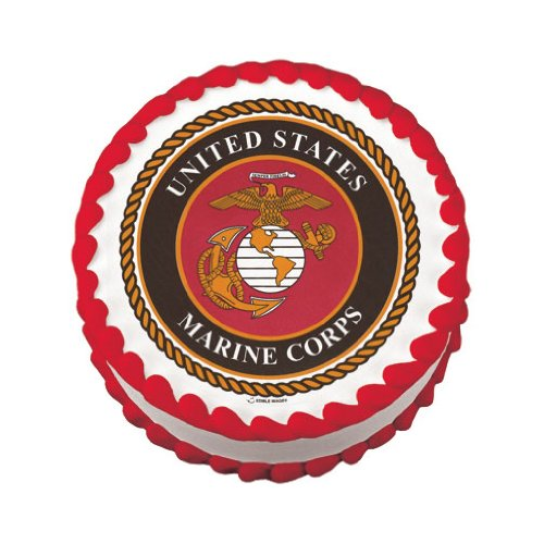 Lucks Edible Image, US Marines Logo, 12 Count