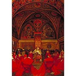 The Perfect Effect Canvas Of Oil Painting 'Frank Cadogan Cowper - Lucretia Borgia Reigns In The Vatican In The Absence Of Pope Alexander VI,1910' ,size: 30x44 Inch / 76x111 Cm ,this Cheap But High Quality Art Decorative Art Decorative Prints On Canvas Is Fit For Wall Art Artwork And Home Artwork And Gifts