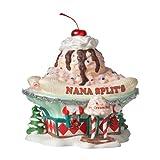 Department 56 North Pole Series Village Nana Splits Ice Cream Parlor Lit House, 7.87-Inch