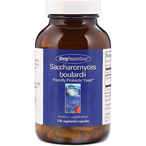 Allergy Research Group Saccharomyces Boulardii Friendly Probiotic Yeast 120 Vegetarian Capsules