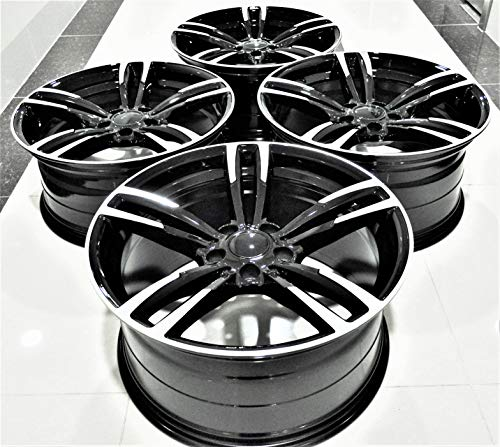 "19"" Inch Black Staggered Wheels Rims (Full Set of 4) fit BMW 1 2 3 4 5 6 Series X1 X3 X4 5480 BM"