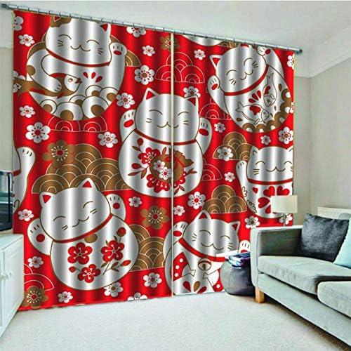 QinKingstore カーテンの家の装飾の居間の大きいサイズの窓のカーテンのスクリーニングの家の装飾