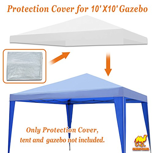 STRONG CAMEL Outdoor Protective Cover for 10x10' Canopy &Pop Up Party Tent Waterproof Protect by Strong Camel