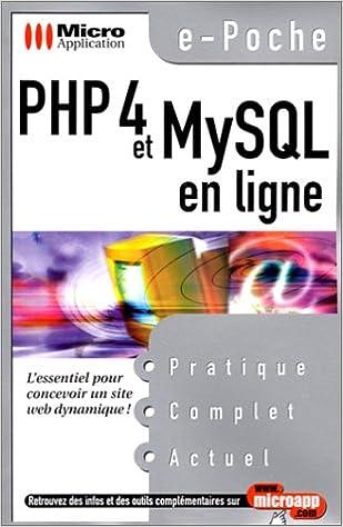 PHP 4 et MySQL en ligne    E-poc