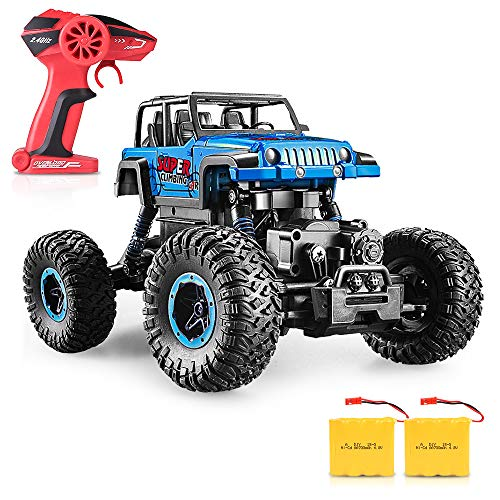 RC Car, SHARKOOL 2.4Ghz 4WD 1/18 Scale with Two Batteries 2018 Newest Rc Crawlers Off Road Vehicle Toy Remote Control Car for Kids & Adults from SHARKOOL