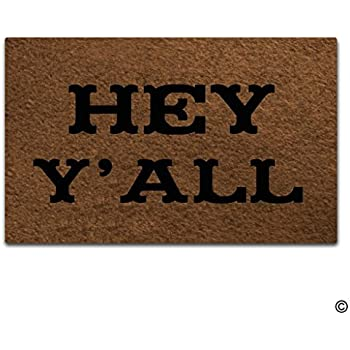 Artswow Entrance Floor Mat Custom Doormat Hey Yu0027All Door Mat With Non Slip  Rubber