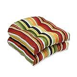 Pillow Perfect Outdoor/Indoor Dina Noir Wicker Seat