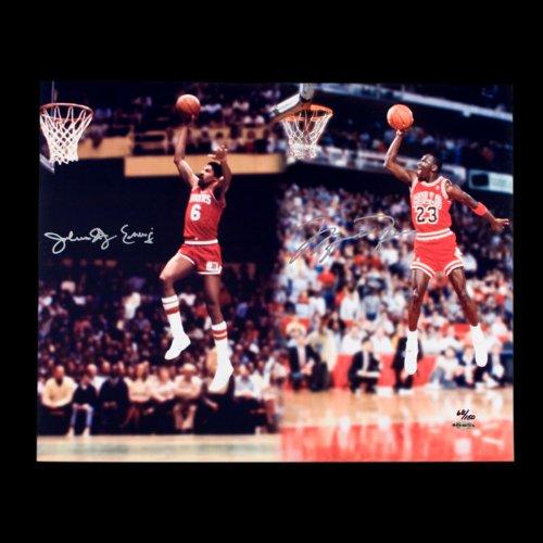 Michael Jordan & Julius Erving Dual Autographed