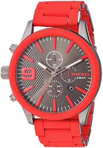 Watch Chronograph Diesel (Diesel Men's DZ4448 Rasp Chrono Red Watch)