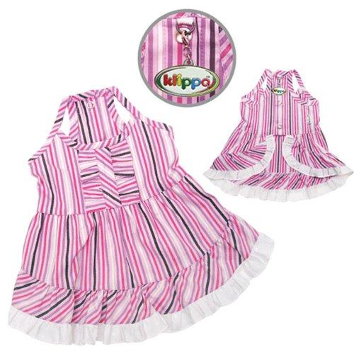 Elegant Smart Stripes Picnic Dog Dress Size: X-Small (6'' - 8'' L)