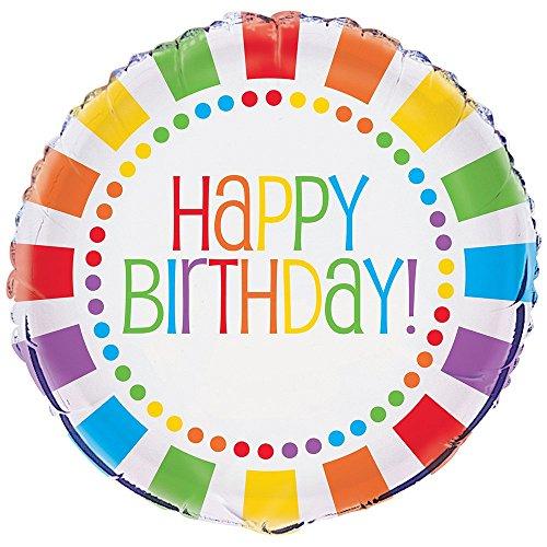Rainbow Party Happy Birthday Balloon