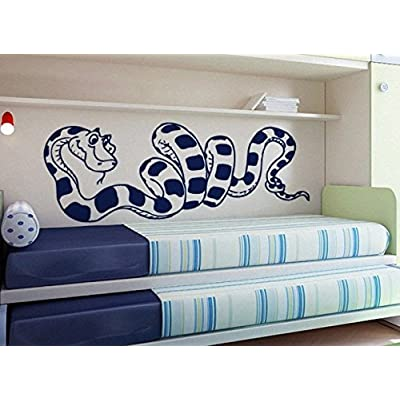 Smiling Python Cute Snake Children decal Girls Room Boys Room Nursery Idea Kids Decor Wall Decal Art Vinyl Sticker tr468: Home & Kitchen