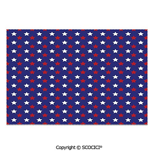 - SCOCICI Set of 6 Heat Resistant Non-Slip Table Mats Placemats United States of America Theme Federal Holiday Celebration Revolution Design Decorative for Dining Kitchen Table Decor