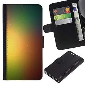 LECELL--Cuero de la tarjeta la carpeta del tirón Smartphone Slots Protección Holder For Apple Iphone 6 PLUS 5.5 -- Rainbow Espacio Galaxy --