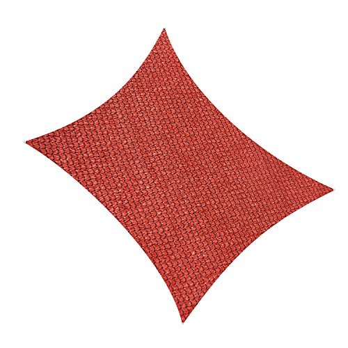 Cool Area Rectangle 9 10 X 13 Sun Shade Sail, UV Block for Outdoor Patio Garden in Color Red