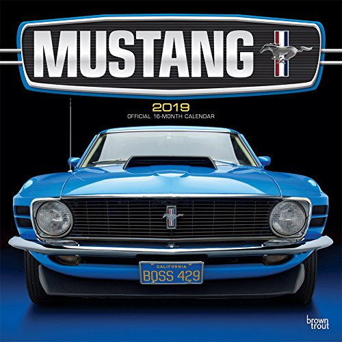 Mustang 2019 12 x 12 Inch Monthly Square Wall Calendar with Foil Stamped Cover, Ford Motor Muscle Car (English, French and Spanish Edition) (Square Mustang)
