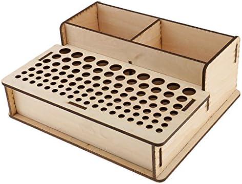 全4種 木製 ラック スタンド ホルダー レザークラフトツール オーガナイザー 用具保管 多機能  - 288x243x103m