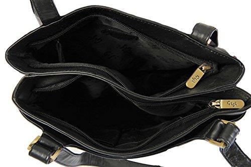 Gigi - Bolso al hombro para mujer Varios colores negro negro