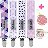 Pacifier Clip by Dodo Babies Pack of 4 +...