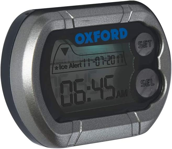 oxford products of 219 digital motorcycle clock & thermometer