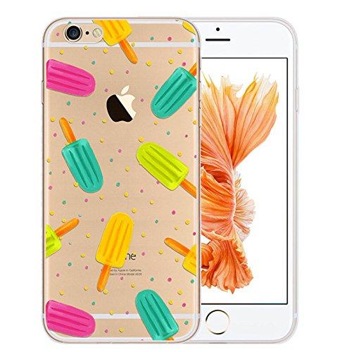 [] TechButik-Custodia per Apple iPhone 6 Plus/6S 11,94 (4,7 cm (6) Plus/6S 13,97 (5,5 cm Ultra Slim Super morbida in Silicone Gel per protettiva anti-graffio, trasparente, Colorato, Moderno-Popsicle