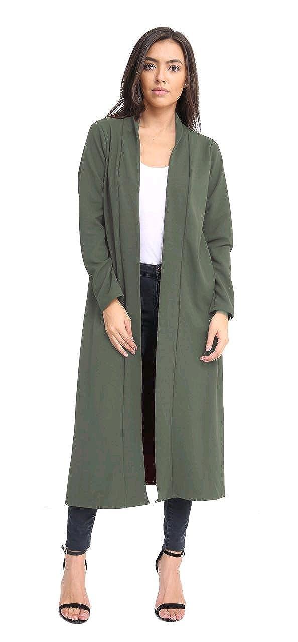 styled by crepe longline jacket black M 12-14 L16-18uk