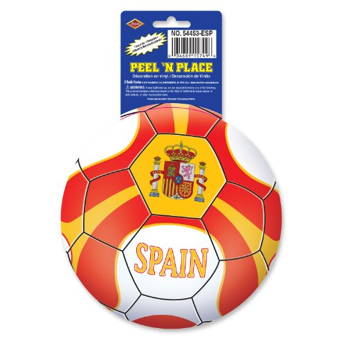 Beistle 12-Pack Peel 'N Place Stickers, 5-1/4-Inch, Spain by Beistle