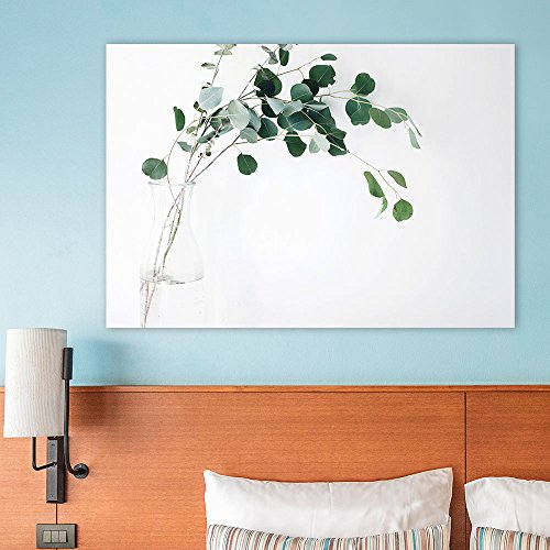 wall26 Canvas Wall Art - Leaves in a Glass Bottle against White Background - Giclee Print Gallery Wrap Modern Home Decor Ready to Hang - 24