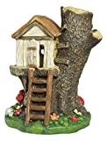 Ganz 5.5″ x 5″ x 4.5″ Fairy Tale Collection Multicolor Light Up Treehouse Figurine