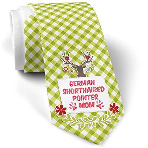 Green Plaid Christmas Neck Tie Dog & Cat Mom American Cocker Spaniel gift for men