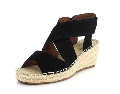 734c653cf28 Rockport Womens Cobb Hill Kairi X Strap Wedge Espadrille Black Sandal - 6 M